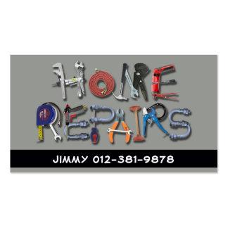 Tools Alphabet Home Repairs Grey Business Card