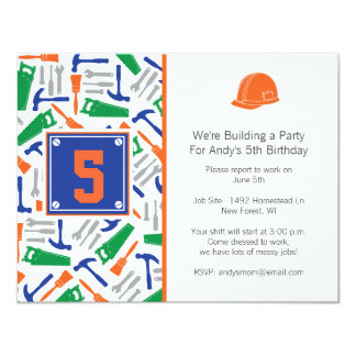 Tools Birthday Invitation For Picture