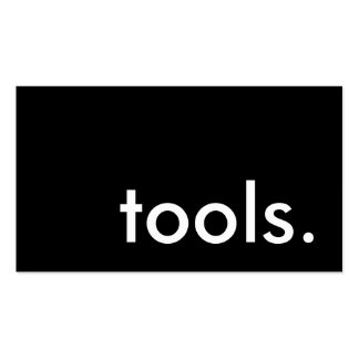 tools. business cards