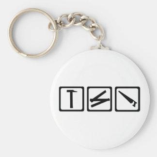 Tools - carpenter basic round button key ring