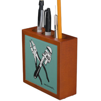 TOOLS custom monogram & color desk organizer