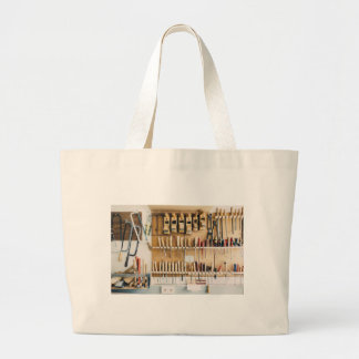 Tools DIY enthusiast Dad Fathers Day Large Tote Bag
