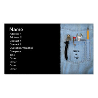 Tools in Pocket Business Card Template
