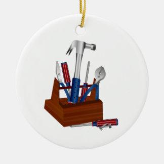 Tools of a Homeowner Round Ceramic Decoration