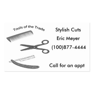 Tools of the Trade Barber Business Cards