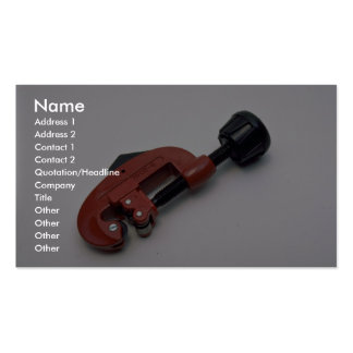 Tools of Trade- Pipe cutter Business Card