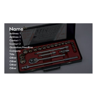 Tools of Trade- Socket set Business Card Template