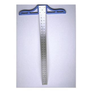 Tools of Trade- Tee square 13 Cm X 18 Cm Invitation Card
