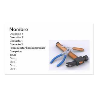 Tools Pack Of Standard Business Cards