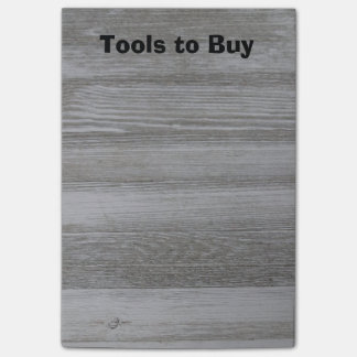 Tools to Buy Rustic Wood Post it Notes
