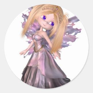 Toon Fairy Princess in Purple Dress Stickers