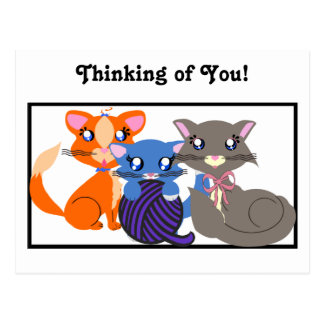Toon Kitty Siblings Base Postcard
