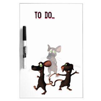 Toon mouse to do list dry erase Board