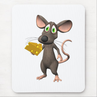 Toon Mouse With Cheese Mousepad