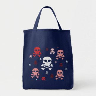 Toon Skull Collage Tote - HALLOWEEN Bag