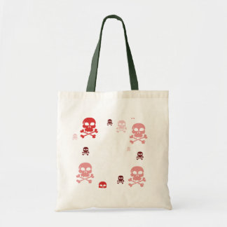 Toon Skull Collage Tote - HALLOWEEN Tote Bag
