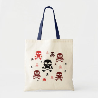 Toon Skull Collage Tote - HALLOWEEN Canvas Bag