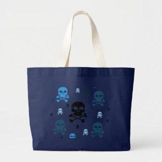 Toon Skull Collage Tote - HALLOWEEN Jumbo Tote Bag