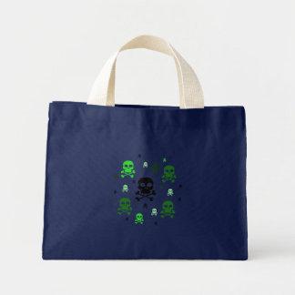 Toon Skull Collage Tote - HALLOWEEN Mini Tote Bag