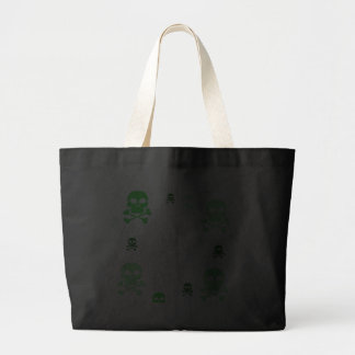 Toon Skull Collage Tote - HALLOWEEN Tote Bag