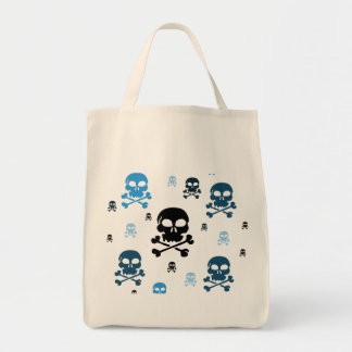 Toon Skull Collage Tote - HALLOWEEN Tote Bags