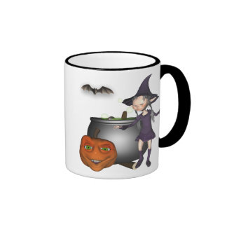 Toon witch Halloween mug