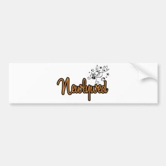 ToonDoveNewlywedOrange Bumper Sticker