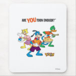 Toontown Flippy, Duck and Cat Are You Toon Enough Mouse Pads