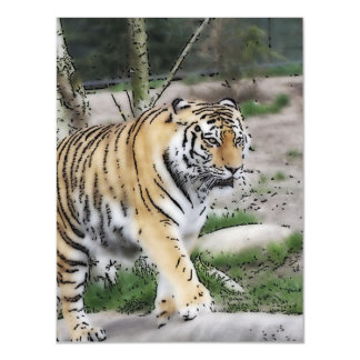 toony tiger magnetic invitations