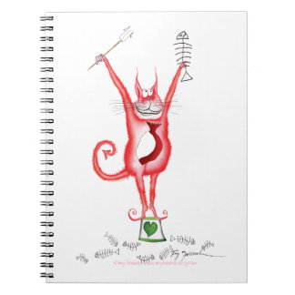 tooo hot to handle red hot cat, tony fernandes spiral notebook