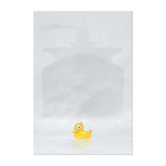 Toot Duck Stretched Canvas Print
