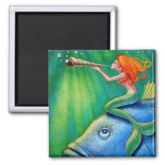 Toot Yur Own Seashell- Mermaid! Magnet