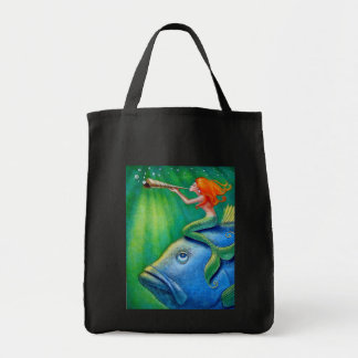 Toot Yur Own Seashell- Mermaid! Tote Bag