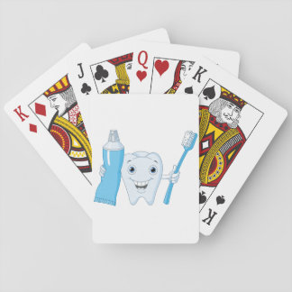 Tooth And Toothbrush Playing Cards