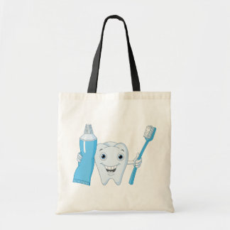Tooth And Toothbrush Tote Bag