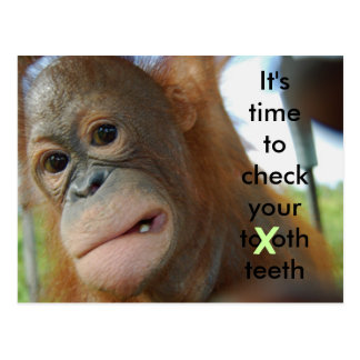 Tooth Care : Dentist Appointment Reminder Postcard