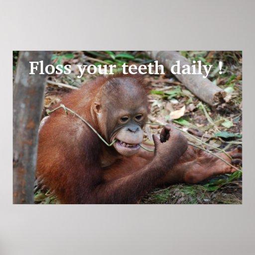 Tooth Care Floss Children's Dentist Print