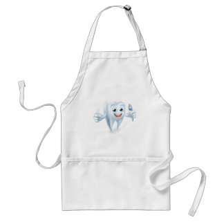 Tooth Dental Mascot Holding Toothpaste Standard Apron