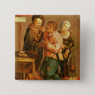 Tooth Extraction 15 Cm Square Badge