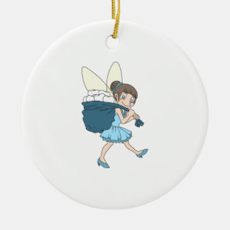 TOOTH FAIRY AT WORK CHRISTMAS TREE ORNAMENTS