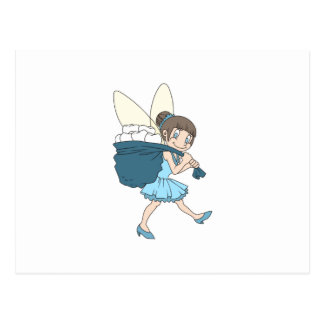 TOOTH FAIRY AT WORK POSTCARD