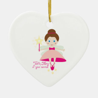 Tooth Fairy At Your Service Ornaments