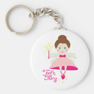 Tooth Fairy Basic Round Button Key Ring