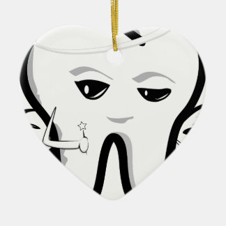 Tooth Fairy Ceramic Heart Decoration