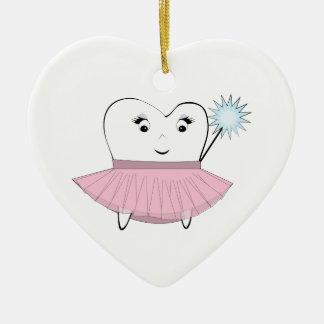 Tooth Fairy Ceramic Heart Decoration