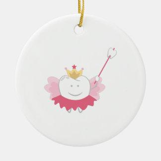 Tooth Fairy Round Ceramic Ornament