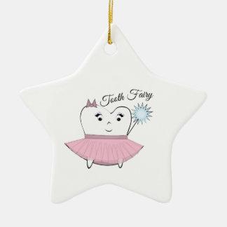 Tooth Fairy Double-Sided Star Ceramic Christmas Ornament