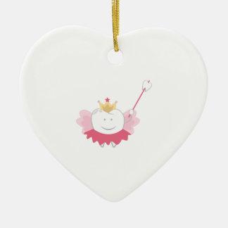 Tooth Fairy Ceramic Heart Ornament