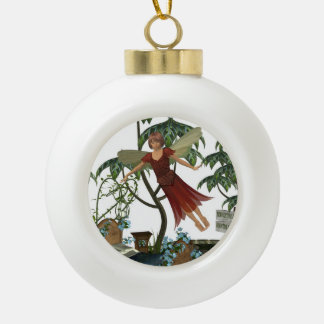 Tooth Fairy in Flight Ceramic Ball Decoration