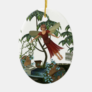 Tooth Fairy in Flight Christmas Tree Ornament